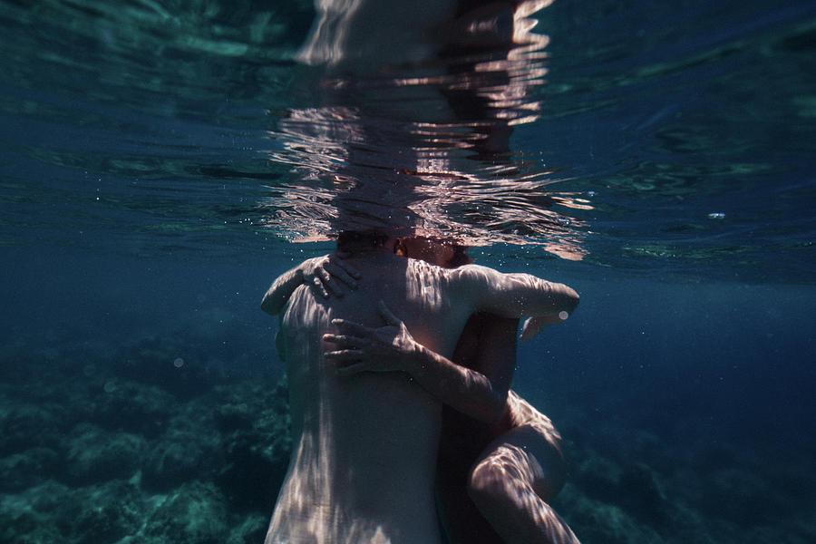 Swim Photograph - Love Hug by Gemma Silvestre