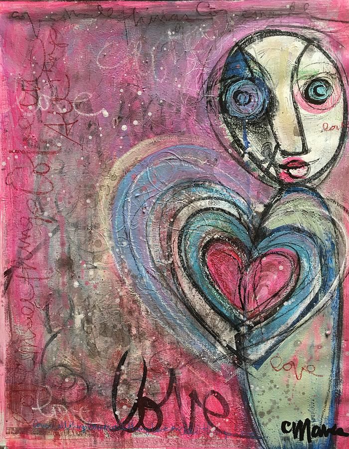 Love Painting - Love In All Things by Laurie Maves ART