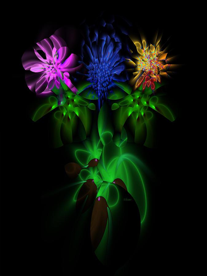 Fractal Digital Art - Love In Bloom Bouquet by Harmen Wiersma
