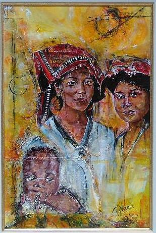 Ethnic Painting - Love Is - 1 by Lynn Gray