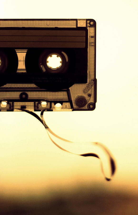 Vertical Photograph - Love Is A Mixed Tape by Taryn