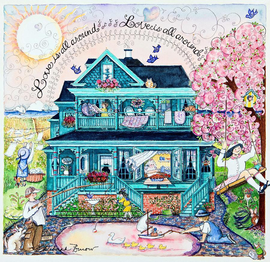 Swings Painting - Love Is All Around by Deborah Burow
