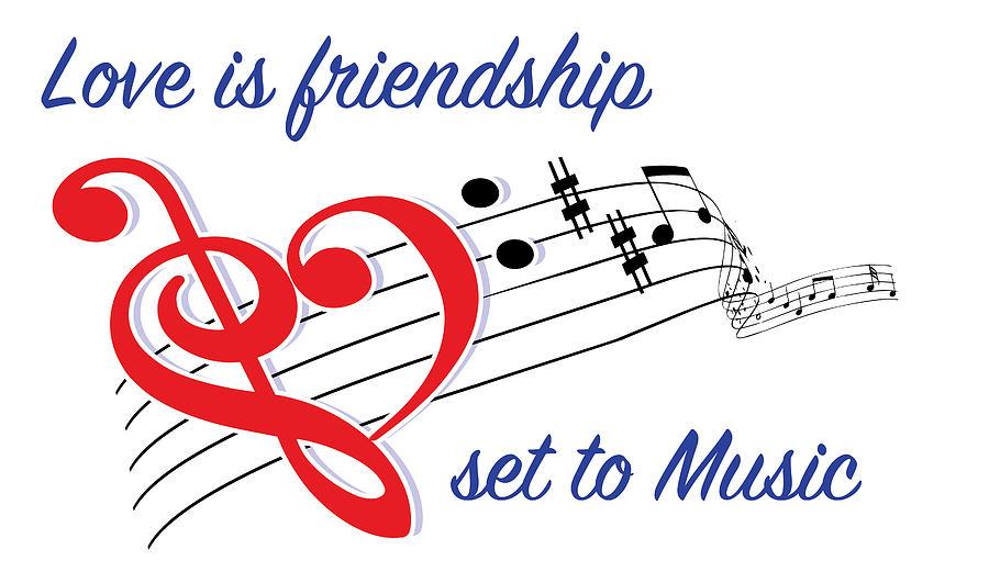 Love Is Friendship Mixed Media