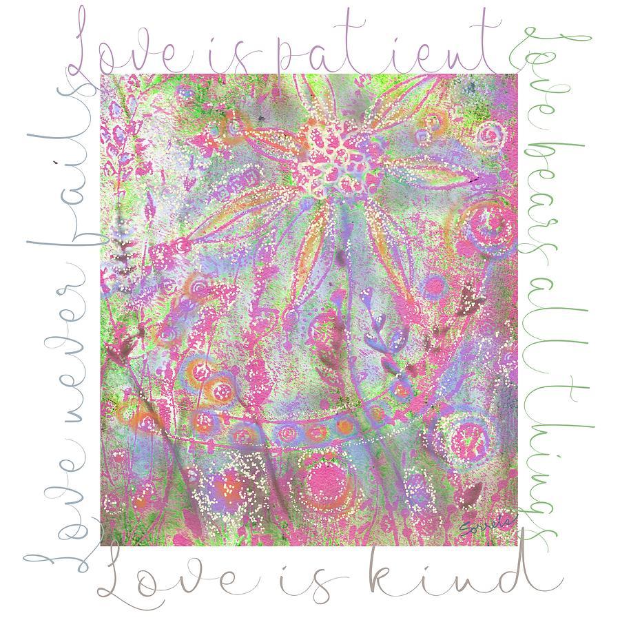 Love Digital Art - Love Is Patient by Judy Sorrels