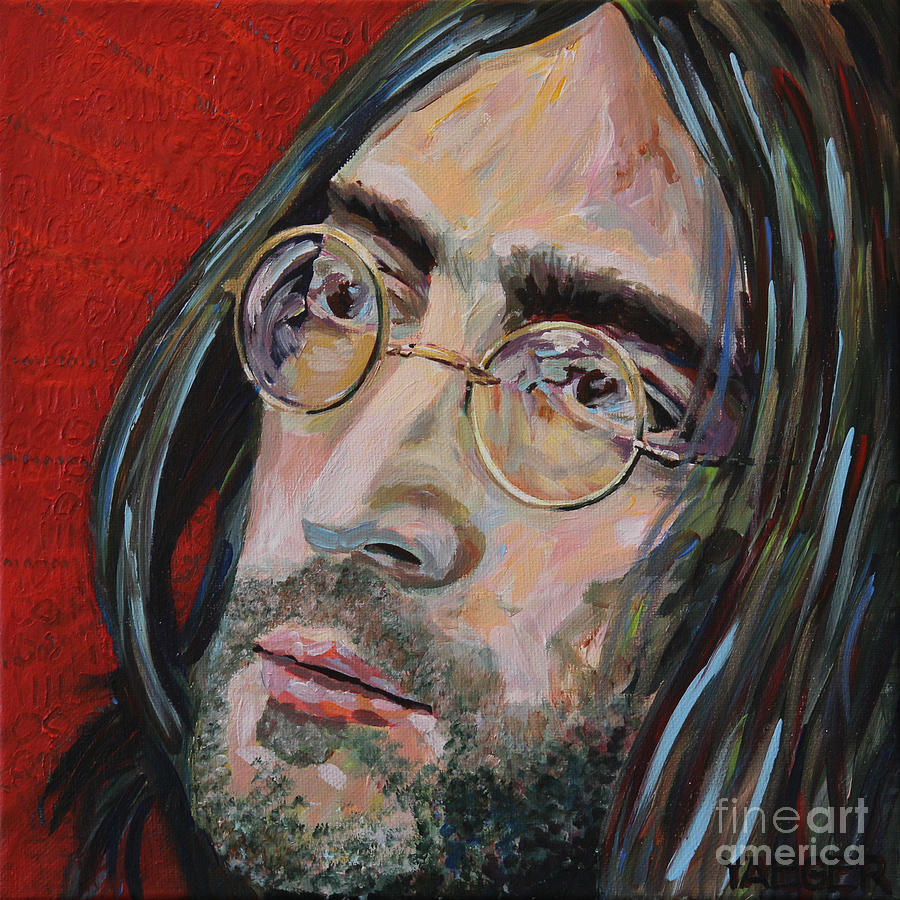 John Lennon Painting - Love is the Answer John Lennon Portrait 2 by Robert Yaeger