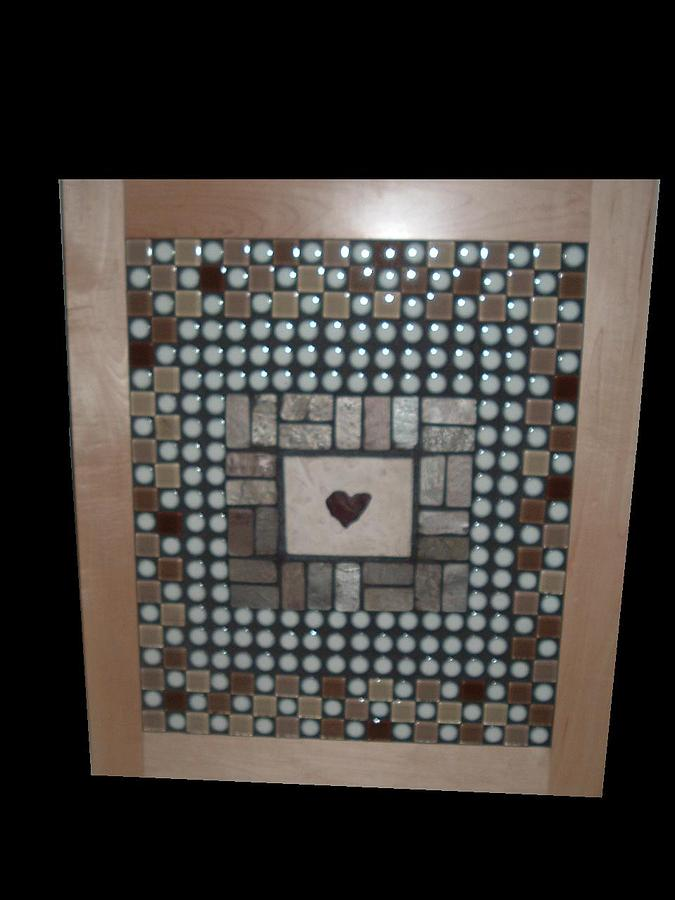 Mosaic Mixed Media - Love by Jack Walsh