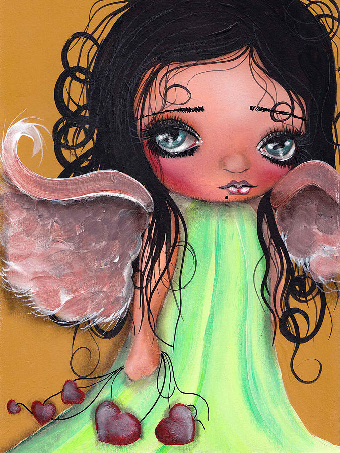 Angel Painting - Love Keeper by  Abril Andrade Griffith