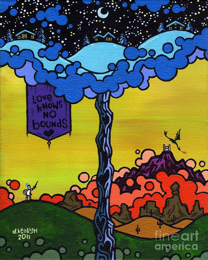 Love Painting - Love Knows No Bounds by Dan Keough