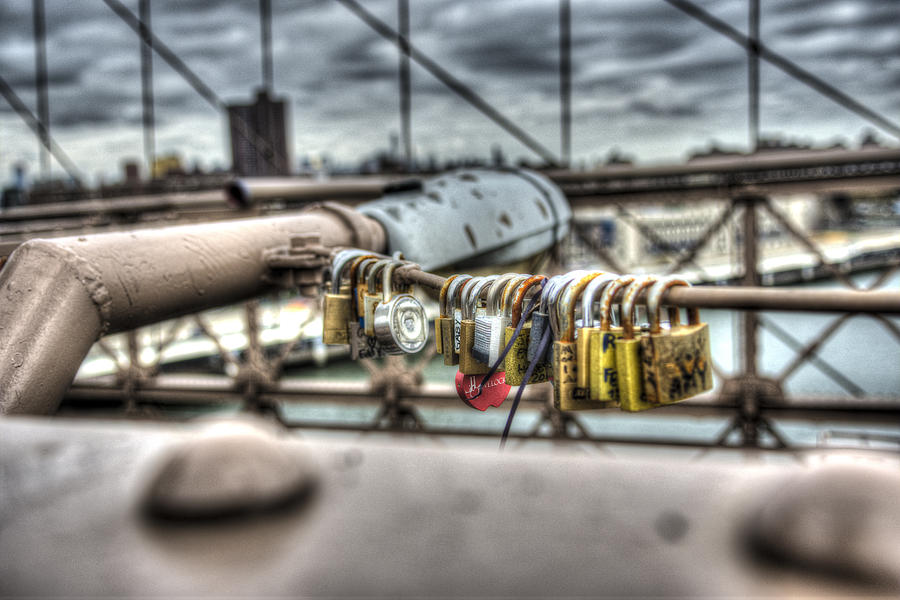 Locks Photograph - Love Locked by Michael Santos
