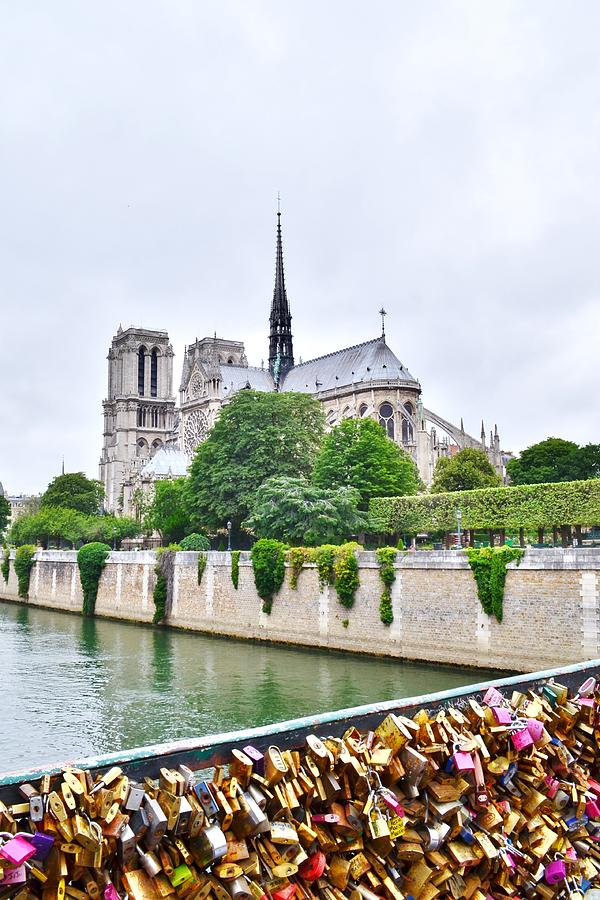Love Locks Across the Seine by Kim Bemis