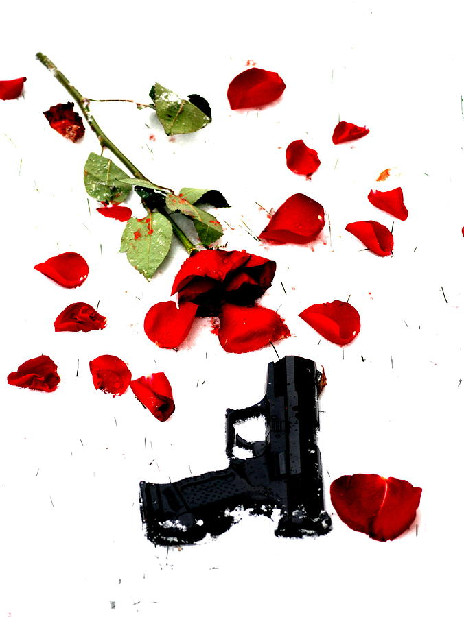 Gun Photograph - Love Lost by Emily Stauring