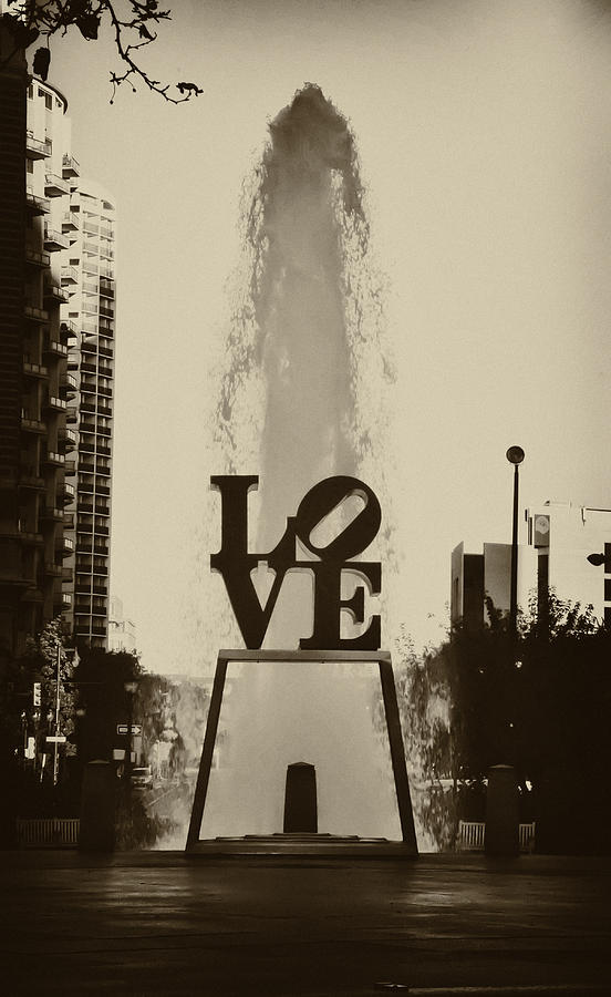 Love Park Photograph - Love Love Love by Bill Cannon