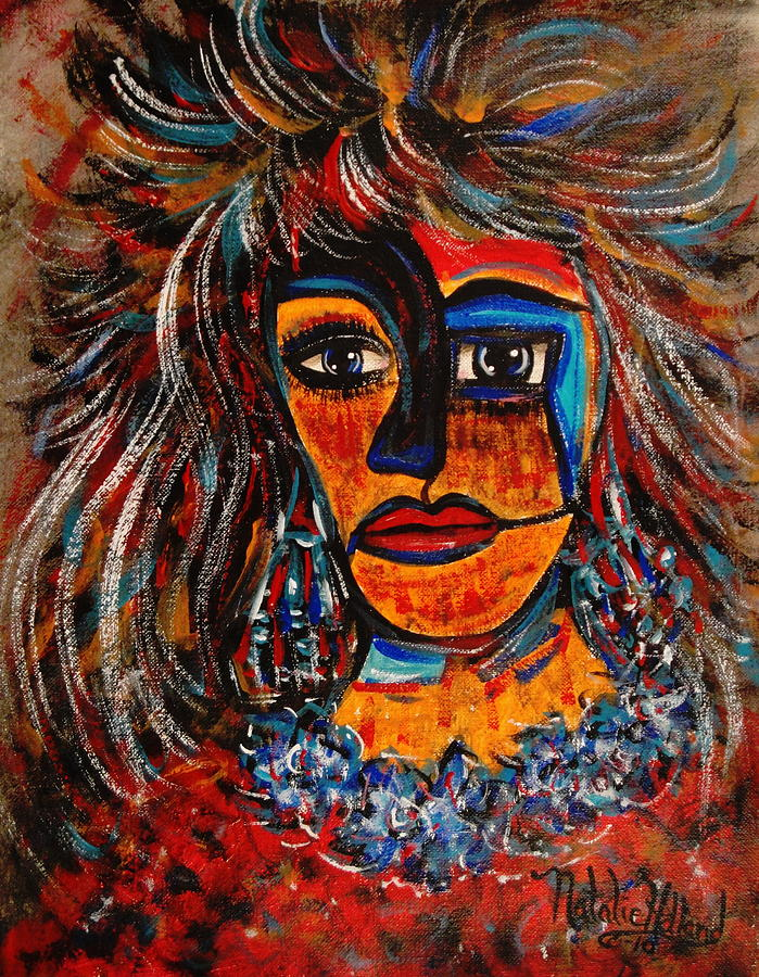 Woman Painting - Love Me or Leave Me by Natalie Holland