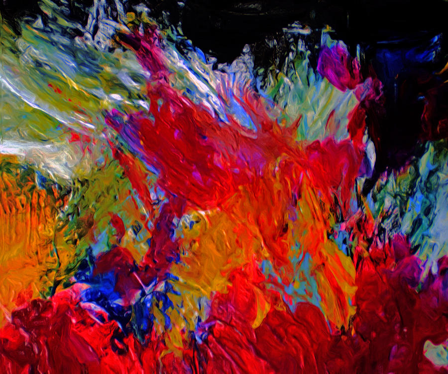 Abstract Painting - Love by Michael Durst