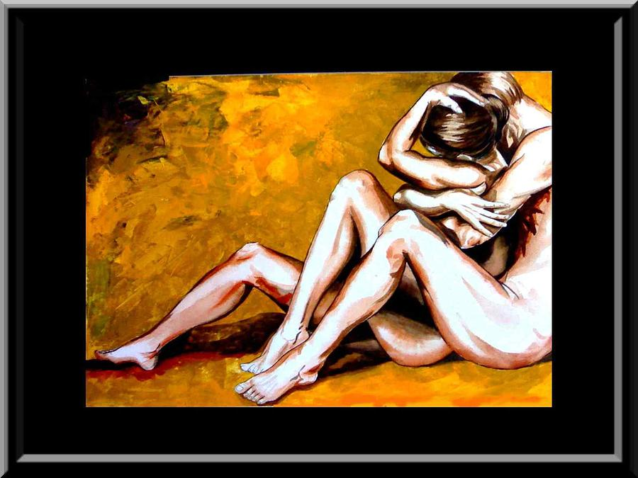 Figurative Painting - Love by Mukesha Nathani