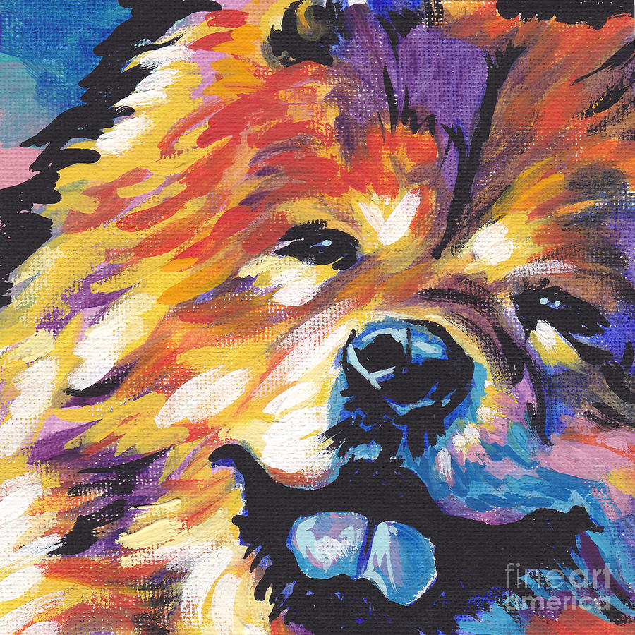 Chow Painting - Love My Chow by Lea S