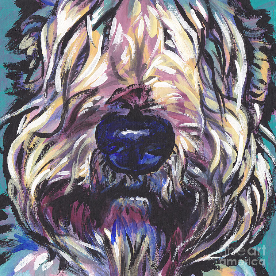Soft Coated Wheaten Terrier Painting - Love My wheatie by Lea S