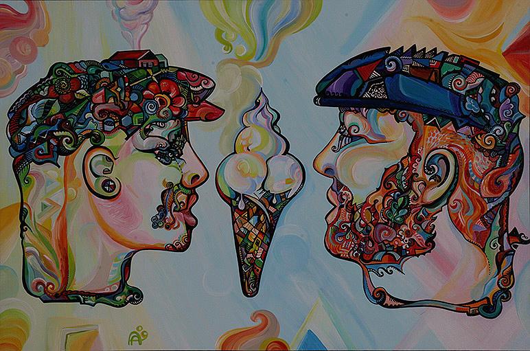 Ice Cream Painting - Love Of Ice Cream by Alex Arshansky