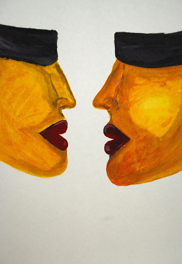 Love-on-line Painting by Irum Iftikhar