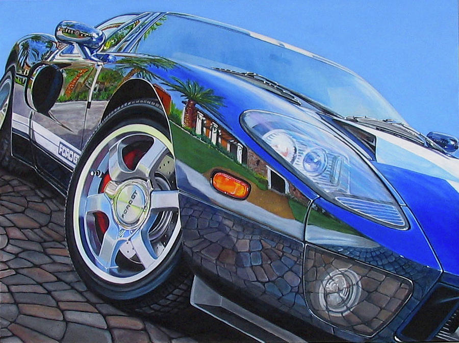 Car Painting - Love On The Rocks by Lynn Masters