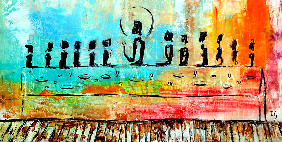 Love One Another Iil Painting By Ivan Guaderrama