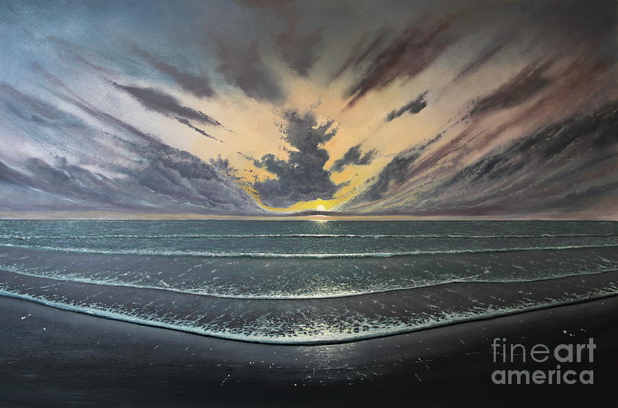 Sea Painting - Love Over Gold by Paul Newcastle