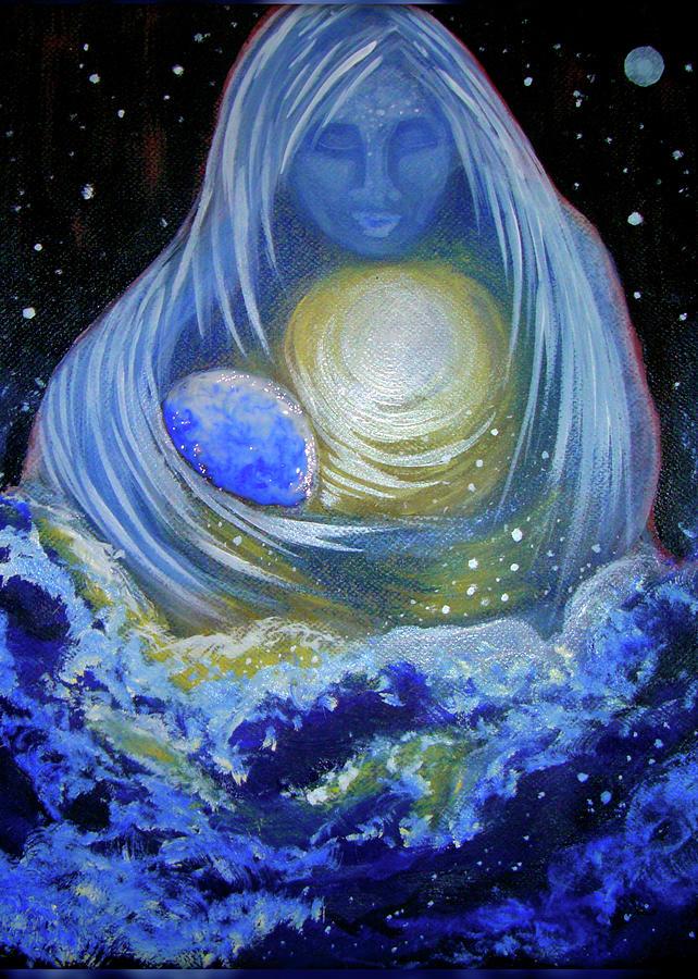 Ocean Painting - Love by Pam Ellis