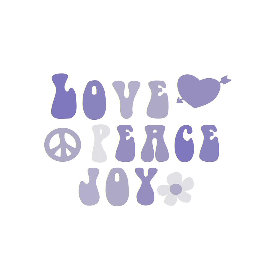 Illustration Painting - Love Peace And Joy 6 by Celestial Images