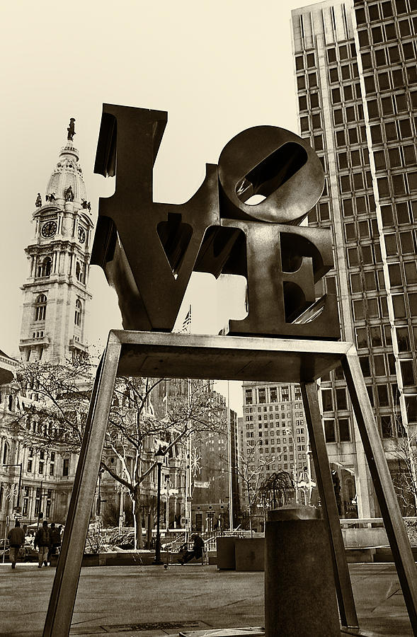 Love Photograph - Love Philadelphia by Jack Paolini