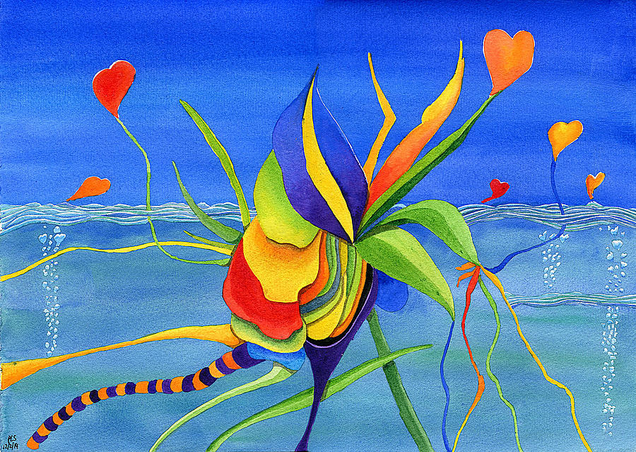 Love Painting - Love Rising by Piers Le Sueur
