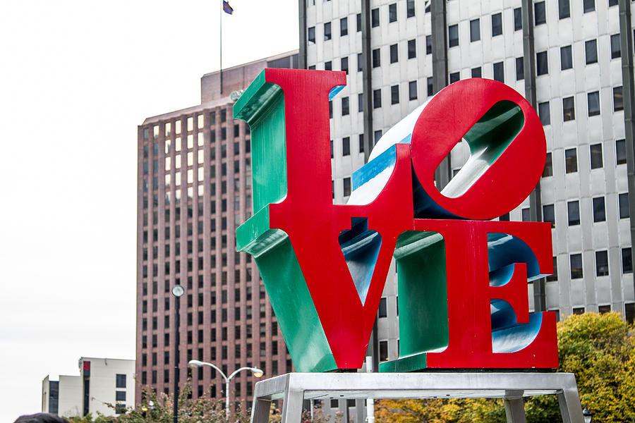Philadelphia Photograph - Love by Robert J Caputo