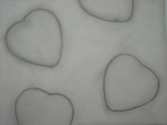 Hearts Drawing - Love by Samantha  Howe