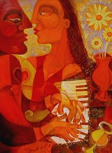 Love Song Painting by Paul Grech