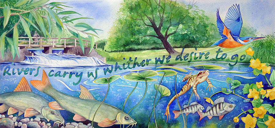 River Painting - Love song to the Kennet by Jane Tomlinson