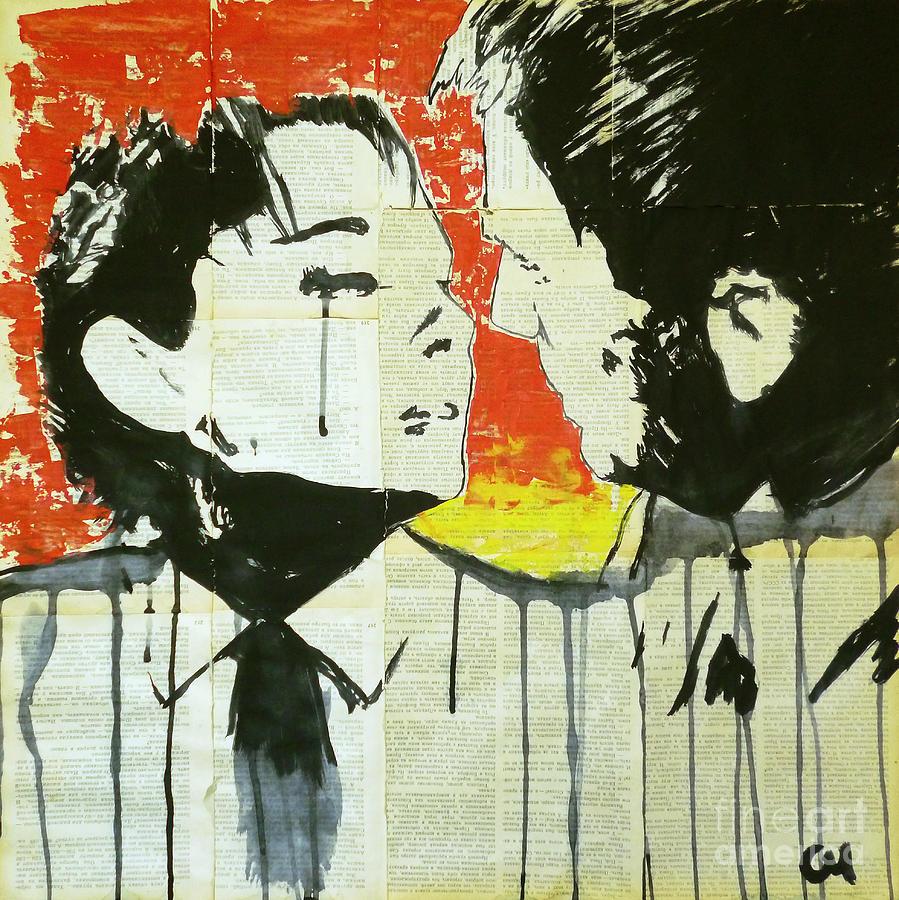 Gouache Painting - Love Story . by Marat Cherny