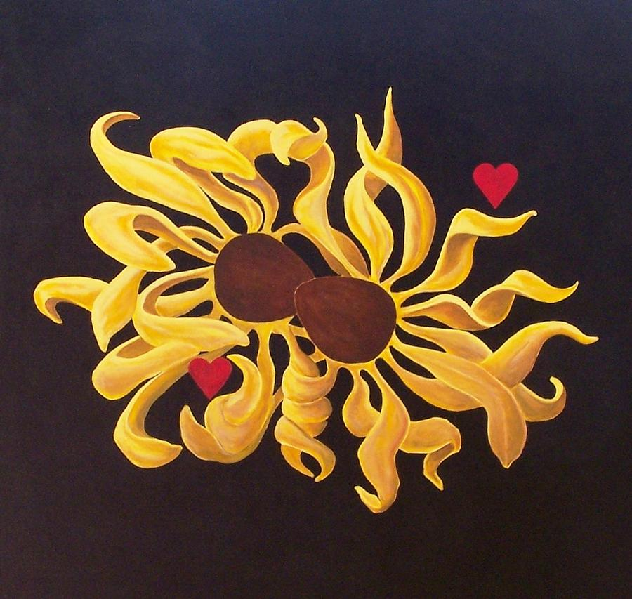 Flower Painting - Love Story by Ron Tango Jr
