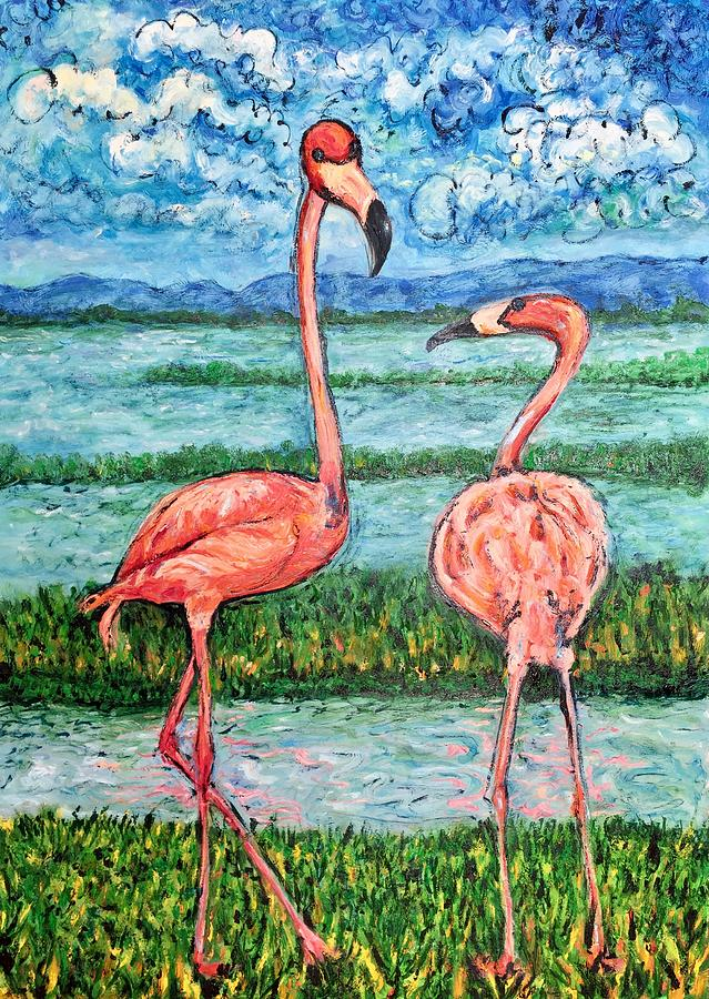 Lanscape Painting - Love Talk by Ericka Herazo