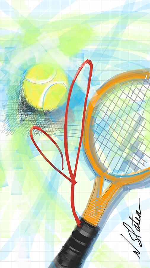 Heart Tennis Digital Art