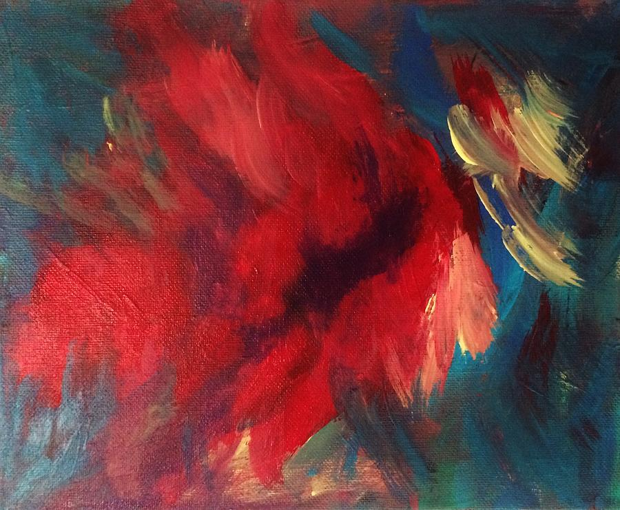 Abstract Painting - Love That Red by Glenda Collins