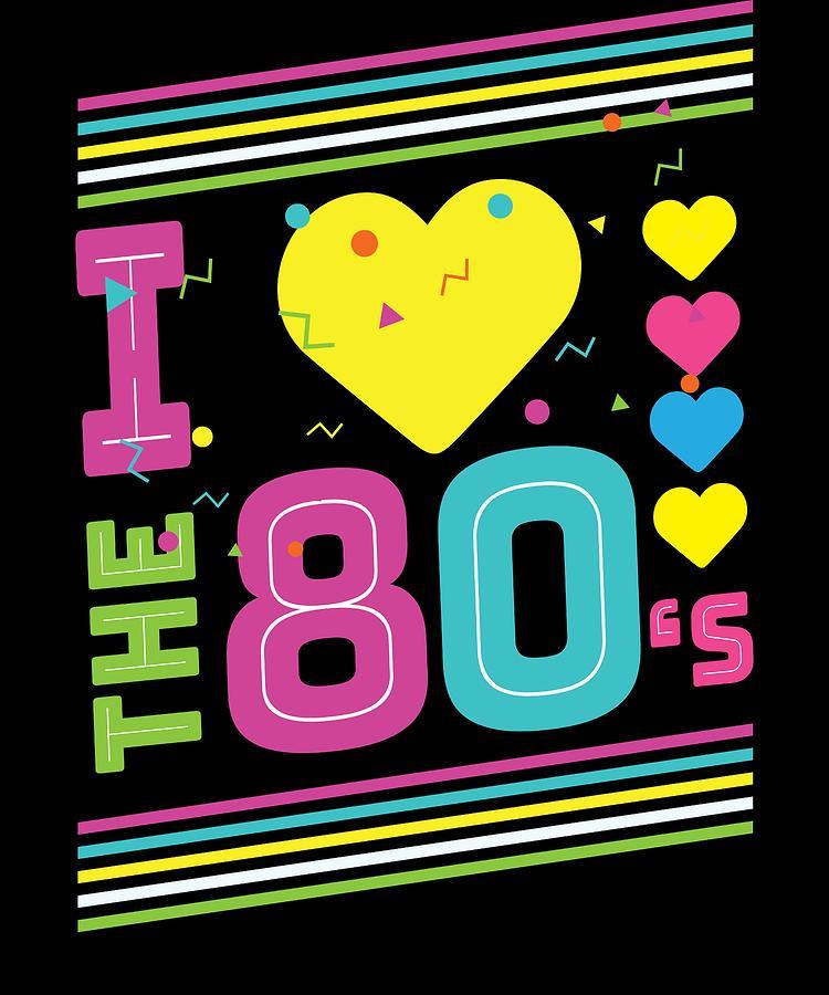 Love The 80s Apparel Disco Digital Art By Michael S