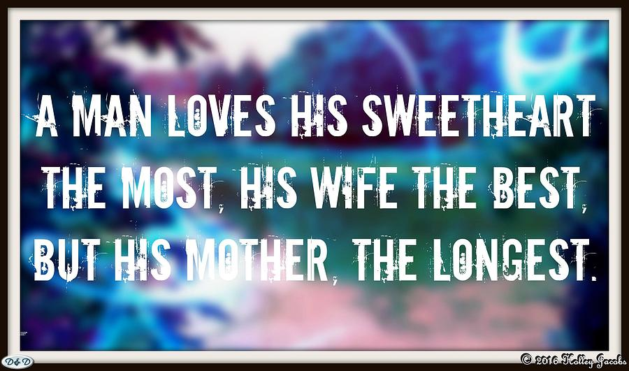 Son Photograph - Love Thy Mother by Holley Jacobs