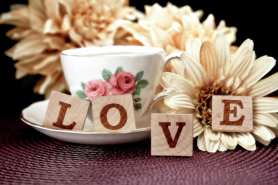 Teacup Photograph - Love by Tom Mc Nemar
