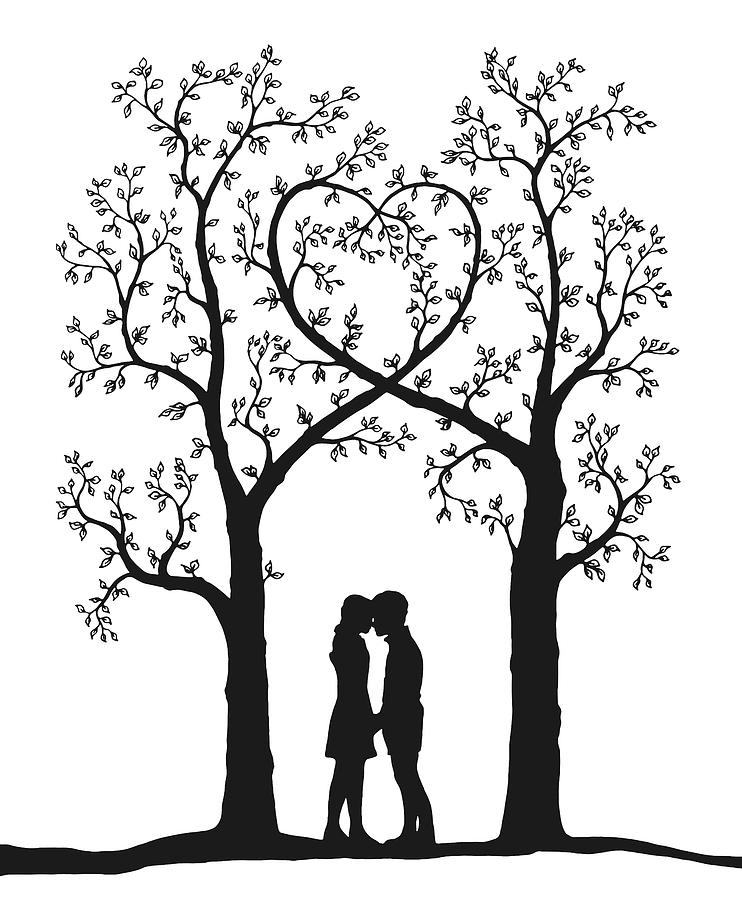 Love Tree I Drawing By Martin Wimmer