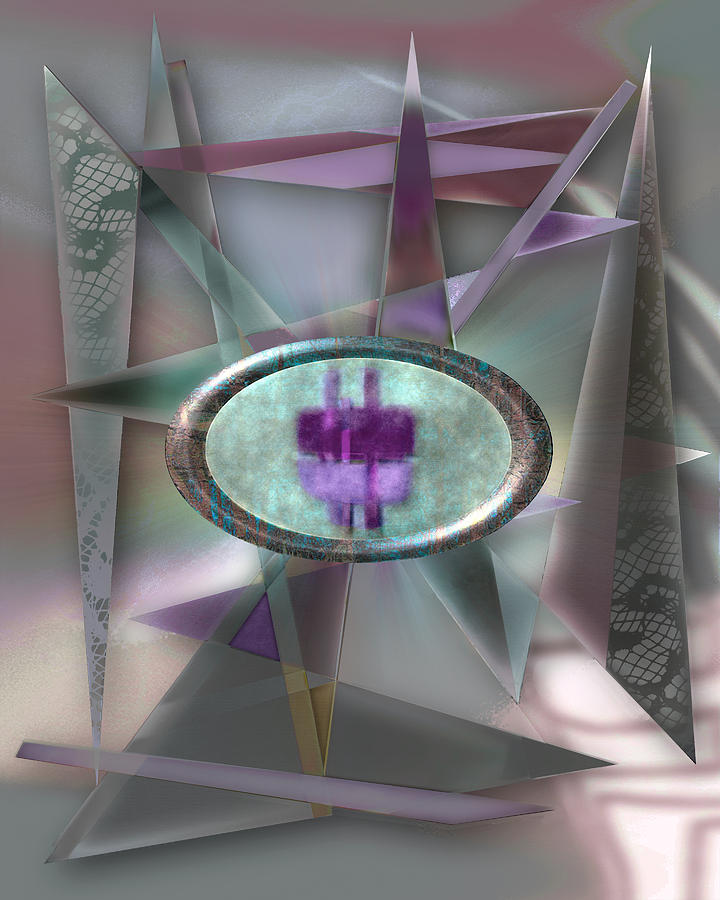 Abstract Digital Art - Love Triangles 2 by Warren Furman