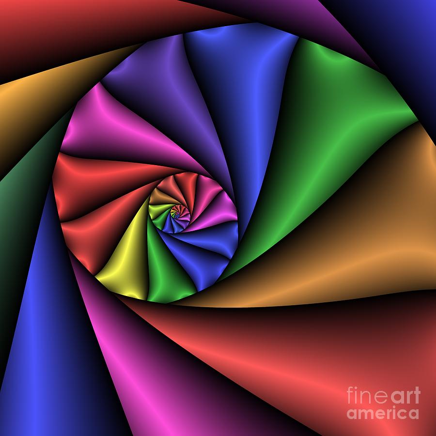 Zen Digital Art - Love Tunnel 222 by Rolf Bertram