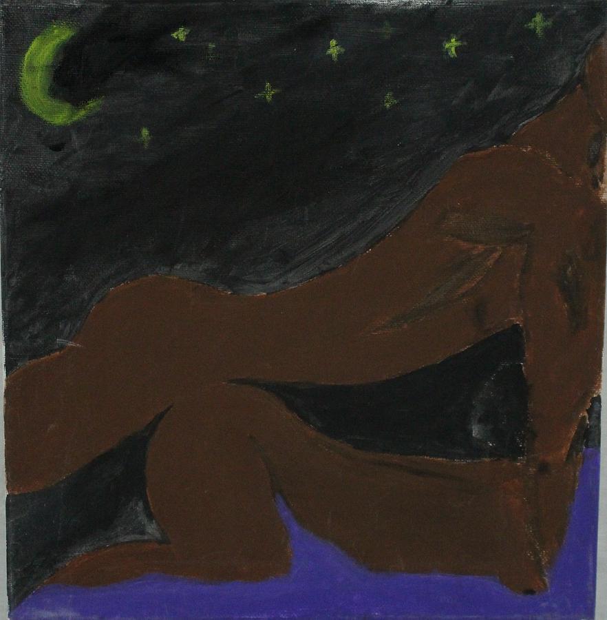 Love under the Stars Painting by Sonye Locksmith