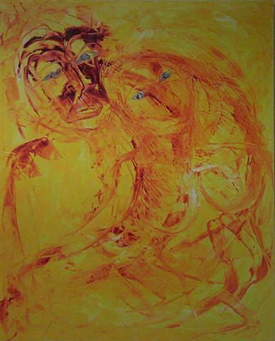 Love V Painting by Gunter  Tanzerel