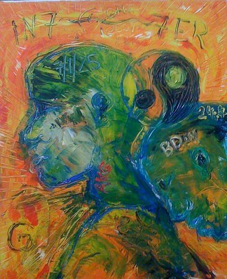 Love Viii Painting by Gunter  Tanzerel