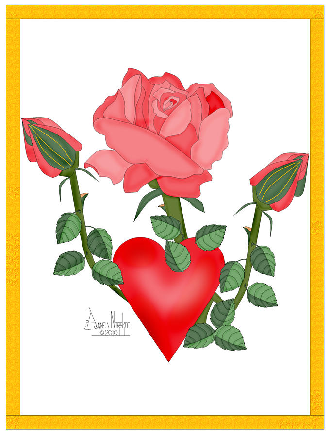 Valentine Painting - Love Will Grow by Anne Norskog