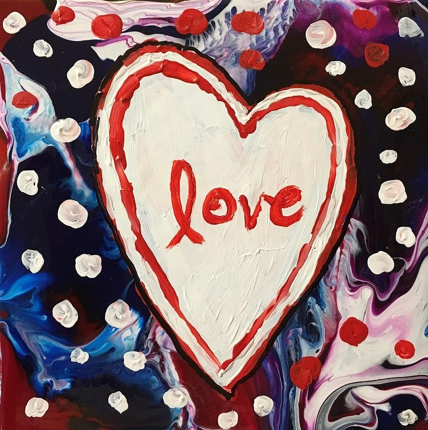 Love Painting - Love With Heart by Marita McVeigh